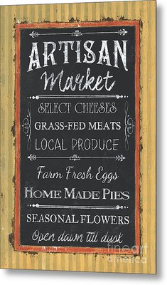 Artisan Market Sign Metal Print by Debbie DeWitt