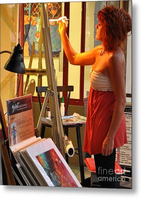 Artist At Work Metal Print by Rose  Hill