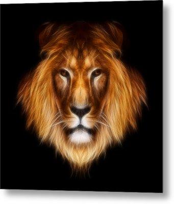 Artistic Lion Metal Print by Aimelle