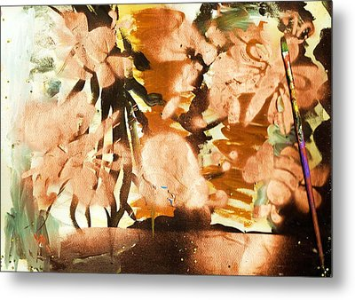 Artist's Serendipity Abstract Painting Metal Print by Anne-elizabeth Whiteway