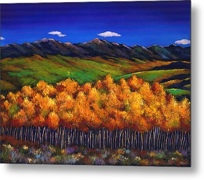 Aspen In The Wind Metal Print by Johnathan Harris