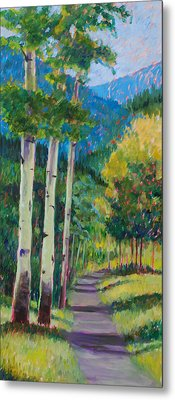 Aspen Trails Metal Print by Billie Colson
