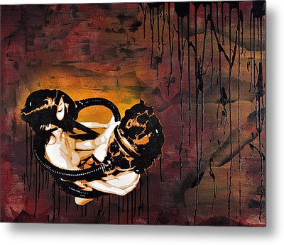 Asphyxiation By Oil Dependency Metal Print by Tai Taeoalii