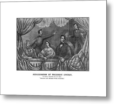 Assassination Of President Lincoln Metal Print by War Is Hell Store
