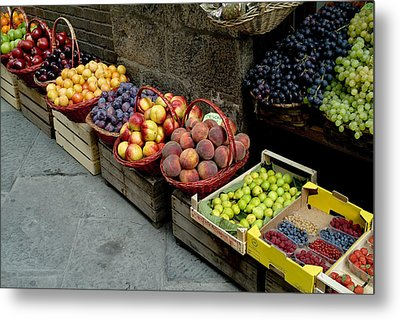 Assorted Fresh Fruits Of Berries Metal Print by Todd Gipstein