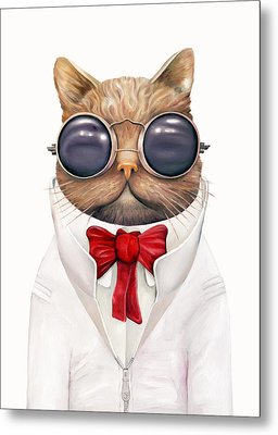 Astro Cat Metal Print by Animal Crew