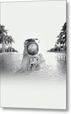 Astronaut Metal Print by Fran Rodriguez
