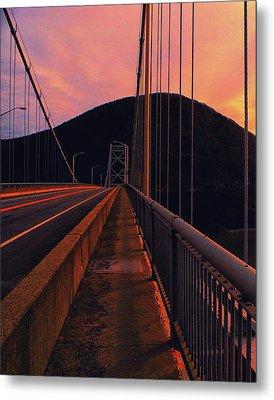 At Ny Bear Mountain Bridge 1 Metal Print by Raymond Salani III