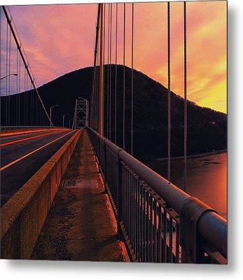 At Ny Bear Mountain Bridge 2 Metal Print by Raymond Salani III