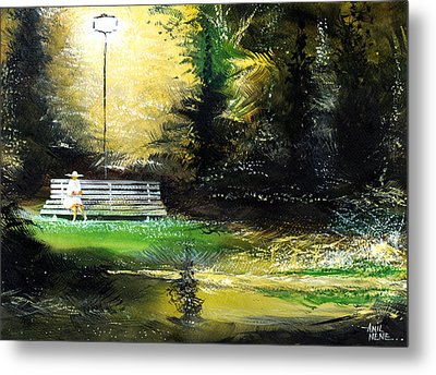 At Peace Metal Print by Anil Nene