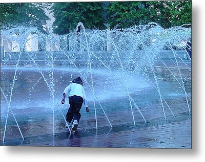 At Play Metal Print by Suzanne Gaff