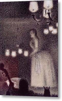At The Eden Concert Metal Print by Georges Pierre Seurat