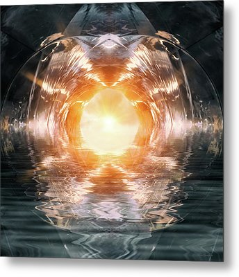 At The End Of The Tunnel Metal Print by Wim Lanclus