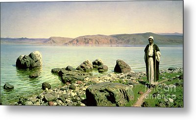 At The Sea Of Galilee Metal Print by Vasilij Dmitrievich Polenov