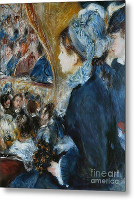 At The Theater Metal Print by Pierre Auguste Renoir