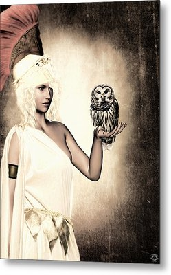 Athena Metal Print by Lourry Legarde