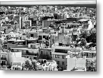 Athens Cityscape I Metal Print by John Rizzuto