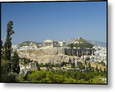 Athens Metal Print by Julia Bridget Hayes