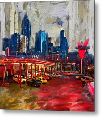 Atlanta Skyline 231 1 Metal Print by Mawra Tahreem