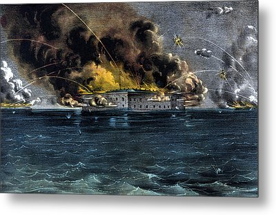 Attack On Fort Sumter Metal Print by War Is Hell Store