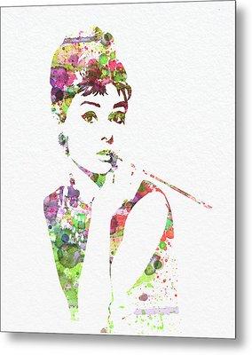 Audrey Hepburn 2 Metal Print by Naxart Studio
