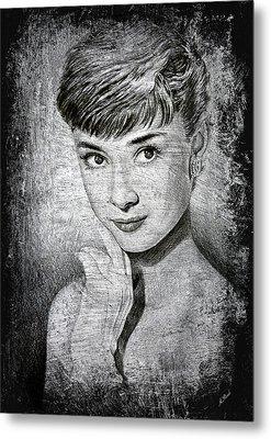 Audrey Hepburn Metal Print by Andrew Read