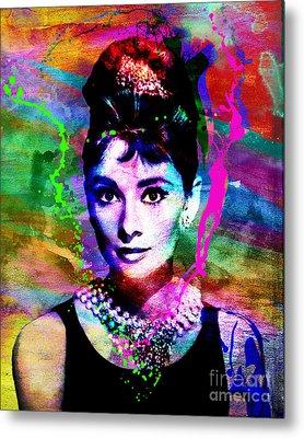 Audrey Hepburn Art Metal Print by Ryan Rock Artist