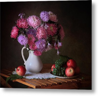 August Gifts Of The Garden Metal Print by ??????? ????????