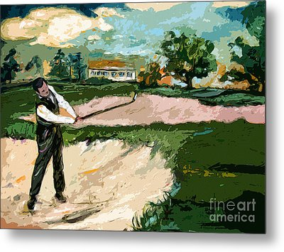 Augusta National Bobby Jones Vintage Golf Metal Print by Ginette Callaway