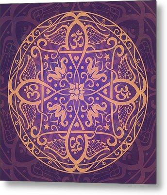 Aum Awakening Mandala Metal Print by Cristina McAllister