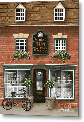 Auntie Mae's Tea Shop Metal Print by Catherine Holman