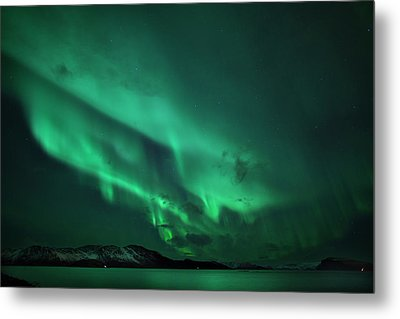 Aurora Over Seiland Metal Print by Espen Ørud