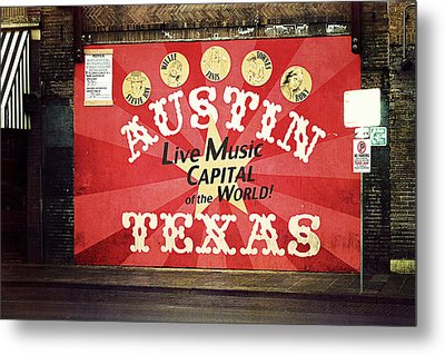 Austin Live Music Metal Print by Trish Mistric