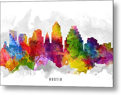 Austin Texas Cityscape 13 Metal Print by Aged Pixel