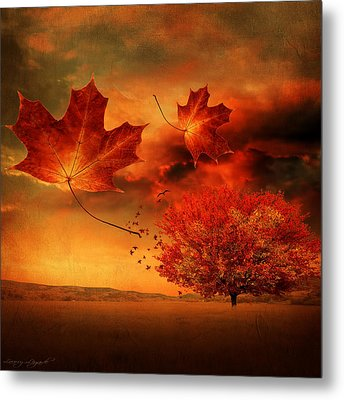 Autumn Blaze Metal Print by Lourry Legarde