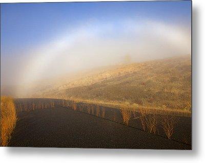 Autumn Fog Bow Metal Print by Mike  Dawson