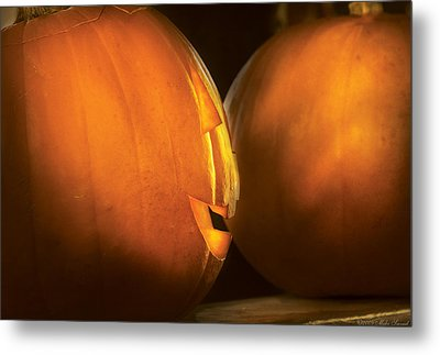 Autumn - Halloween -  Smile If Your Happy Metal Print by Mike Savad