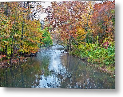 Autumn In Philadelphia Along The Wissahickon Creek Metal Print by Bill Cannon