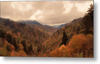 Autumn Landscape In The Smoky Mountains Metal Print by Dan Sproul