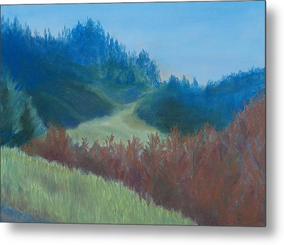 Autumn Landscape Of The Mind Metal Print by Jenny Armitage