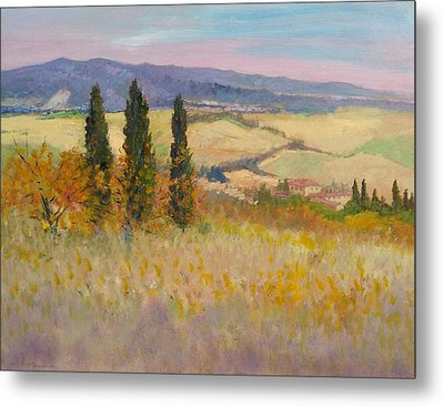 Autumn Landscape - Tuscany Metal Print by Biagio Chiesi