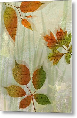 Autumn Leaves-2 Metal Print by Nina Bradica