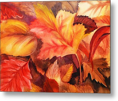 Autumn Leaves Metal Print by Irina Sztukowski