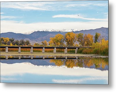 Autumn Lines Continental Divide And Sky Diver Metal Print by James BO Insogna