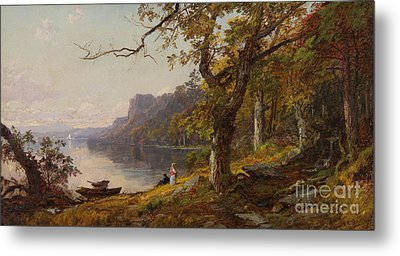 Autumn On The Hudson Metal Print by Celestial Images