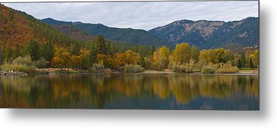 Autumn Panorama Metal Print by Loree Johnson