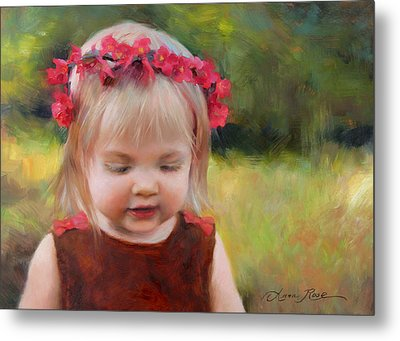 Autumn Princess Metal Print by Anna Rose Bain
