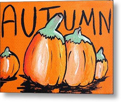Autumn Pumpkins Metal Print by Jera Sky