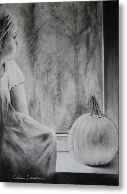 Autumn Rain Metal Print by Carla Carson