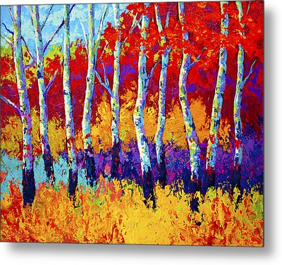 Autumn Riches Metal Print by Marion Rose